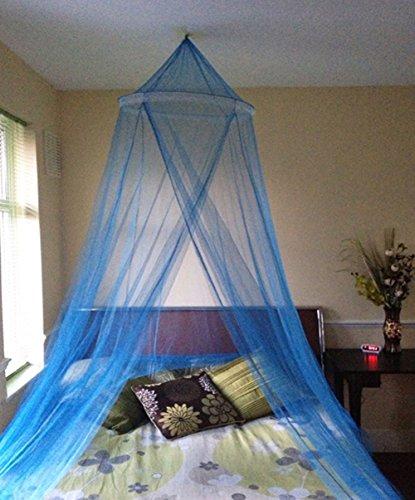 A-Express Blau Moskitonetz Bett Baldachin Mückenschutz Netz für daheim oder für die Reise
