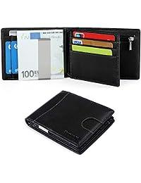 0bccc399e Vemingo Cartera Hombre con Clip para Dinero Portamonedas con Bloqueo de RFID  para Tarjeta de Crédito