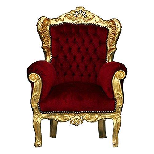 ninos-barroco-rojo-oro-granate-regalo-silla-de-asiento-de-inglaterra