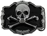 Skull & Cross Bones Belt Buckle including Presentation Box