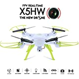GoolRC X5HW Drone con Cámara Wifi FPV Modon sin Cabeza 360° Eversion RC Quadcopte (Blanco)