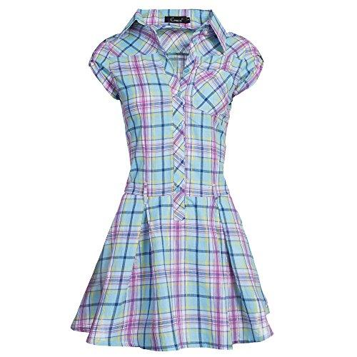 Unbekannt -  Vestito  - Camicia  - Donna Hellblau/Multicolor