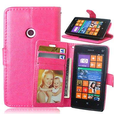 HL CASES And COVERS Schöne Fälle, Abdeckungen, Luxus-PU-Leder Karteninhaber Geldbörse Stehen Klappdeckel mit Fotorahmen Fall für Nokia Lumia 520 (Farbe : Beere, Kompatible Modellen : Lumia 830) - Fall Nokia Geldbörse Lumia 830