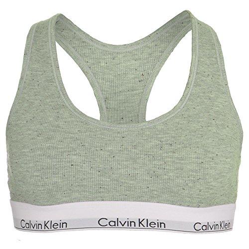 Calvin Klein Damen Bralette Unlined, Farbe Grau (GGR), Gr. L