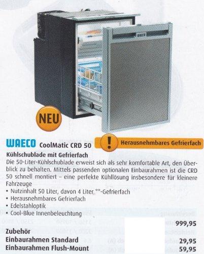 Waeco Coolmatic Mdc - Kompressor Kühlschubfach Mit Gefrierfach - Crd 50 - Betrieb Mit Strom 24.12 / Volt - Fassungsvermögen 50 Liter Inhalt