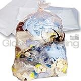 10x sacchetti della spazzatura trasparente resistente 45,7x 73,7x 99,1cm