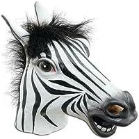 JRing El Traje Espeluznante Animal Del Partido de Víspera de Todos los Santos Cosplay Del Animal Del Látex de la Máscara de la Cabeza, Máscaras de Goma-Hombre-Uno Clasifica (Cebra)