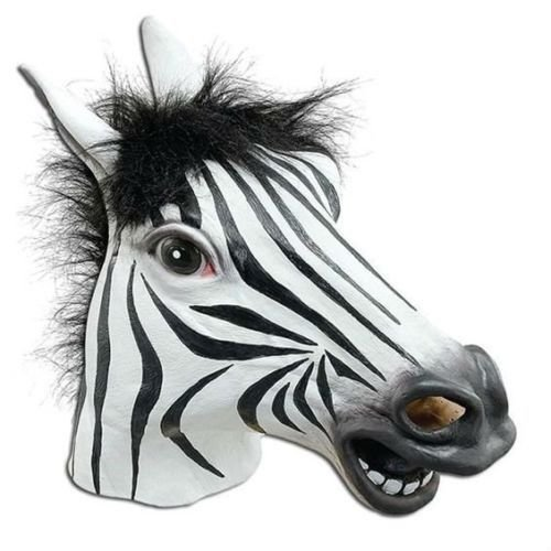 JRing Full Head Zebra Maske Latex Tier