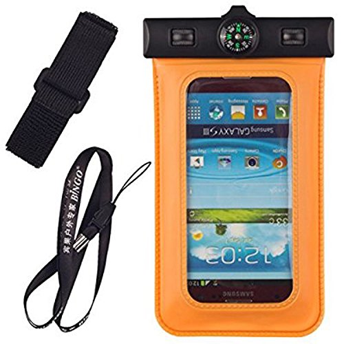 Infinity Trendy Waterproof Armband, Built-in Compass,Bag universal upto 5.5 inch for Moto G4 Plus, Meizu M3 Note, Zuk Z1, Redmi Note 3, Redmi Note 4, iPhone 6 Plus/6/6s/5s/5c/SE,Samsung Galaxy S7/S6/EDGE/S5/S4/NOTE 4/3/2, Leeco Le 2, Huawei Honor 6X, Lenovo Vibe K5, Mi 5, Vibe K5 Note, Oneplus 3/3T, Coolpad Note 3, Redmi 3S Prime, Xperia Xa Dual, iPhone 7, iPhone 7 Plus, Coolpad Note 5, Moto G4 Play, Moto Z for Boating/Hiking/Swimming/Diving [Orange]