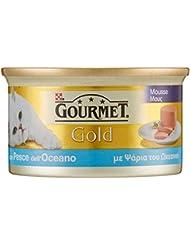 Gourmet Gold Gatto Mousse con Pesce dell'Oceano, 85 g - Confezione da 24 pezzi