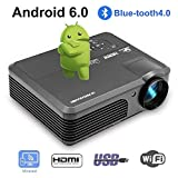 2018 Bluetooth Smart 1080P Videoprojektor mit Wifi, LCD, kabellos, tragbar, LED, Projektor, Haus, Thetre im Freien, 2 HDMI / 2 USB / VGA / AV / Audio-Ausgang für Blueray DVD-Player PS4 XBOX iPhone Mac Laptop