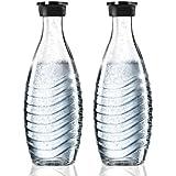 2x SodaStream Duopack Glaskaraffen = 4 x 0.6 L passend für Penguin und Crystal Sprudler