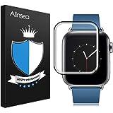 Alinsea Verre trempé iwatch 44mm [1pcs], Films Protecteur [HD 9H dureté] [Colle Plein écran] [Pas de Bulles] [Ajustement Parfait] pour iWatch 44mm Series 4, Hermès/Nike+ Edition