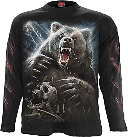 Spiral - Men - BEAR CLAWS - Longsleeve T-Shirt Black