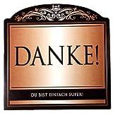 Udo Schmidt Aufkleber Flaschenetikett Etikett Danke du bist super gold