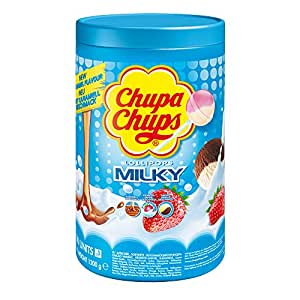 Chupa Chups Milky, 100 Lollipops, 1200g
