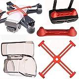 PENIVO Spark Accesorios protector 3 Pack Set, controlador transmisor joystick + cámara cardán cubierta de lente + hélices clip para DJI Spark Drone