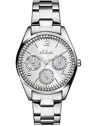 s.Oliver Damen-Armbanduhr Analog Quarz Edelstahl SO-3063-MM