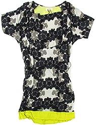 "NÜMPH ""Blake Long Shirt"" femme robe floral (bleu foncé/navy/blanc)"