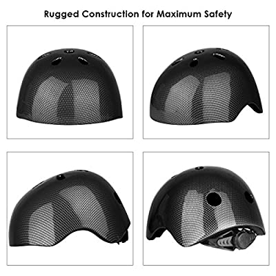 Six Foxes Cycle Helmet Kids Boys Girls Cycling Helmet Bicycle Helmet for Age 3-8 Year, 48-54 cm by Six Foxes