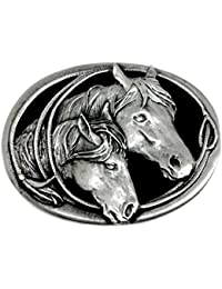 Horse Belt Buckle Horse & Foal Design Western Style Authentic Branded Siskiyou Product