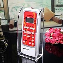 hyfanstr montado en la pared acrílico mando a distancia soporte organizador caja de almacenamiento de medios de comunicación