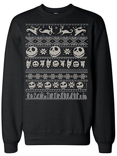 Nightmare before Christmas -  Maglia a manica lunga  - Donna nero Large