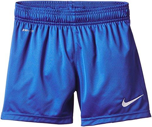 Nike Park Knit Short, Pantaloni corti da calcio senza slip interni, Bambino Blu Royal/bianco