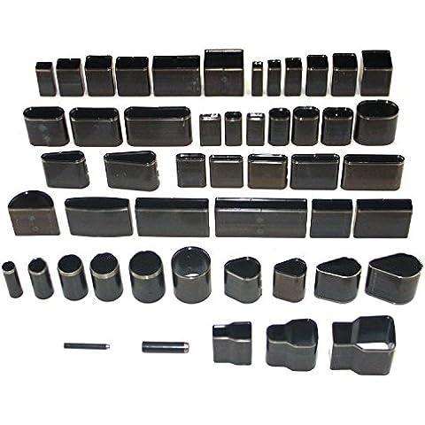 artigianale in pelle fustellato taglio strumento di stampo pugno impostare a mano fatta per con un caso (5.0 pezzi)