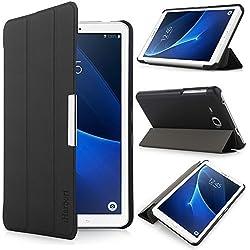 iHarbort Samsung Galaxy Tab A 7.0 Coque Étui Housse - Ultra Slim étui Housse Cuir Coque avec Support pour Samsung Galaxy Tab A 7.0 Pouce T280 T285 Cover Case Housse Pochette Stand, Noir