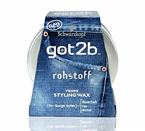got2b rohstoff / raues Styling Wax / von Schwarzkopf / mit Vulkansand / für lässige Styles / 50ml