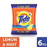 #5: Tide + with Extra Power Lemon and Mint Detergent Washing Powder - 6 kg Pack (Rupees 150 Off)