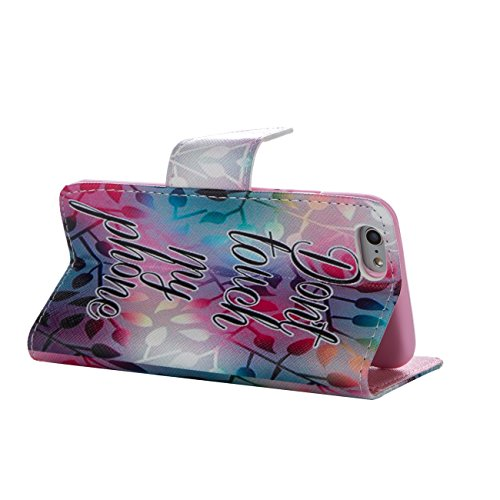 MOONCASE Étui pour Apple iPhone 5 / 5S Printing Series Coque en Cuir Portefeuille Housse de Protection à rabat Case Cover XK28 XK09 #0226