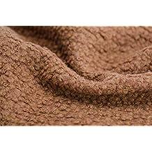 Tela de mezcla de lana teñida para abrigos de costura, 145 cm de alto,