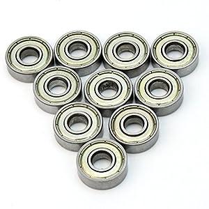 10X Kugellager Rillenkugellager Spindellager Metall Außen 22mm Innen 8mm Neu