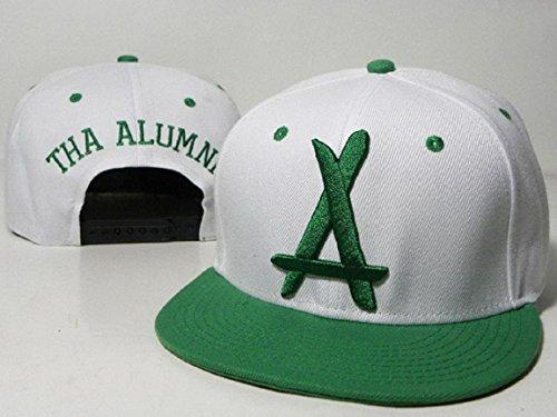 2016 neue Art und Weise Tha Alumni weiß hat.Green Logo mit Green Brim (Beanie Mit Pom Galaxy)