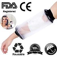 Impermeable al agua Protector vendaje Plaid Wound Fracture pie pierna rodillera protectora para ducha adulto codo brazo con FDA attestation