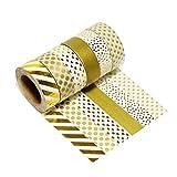 LATH.PIN Washi Tape Weihnachten Feiern Basteln Dekobänder Maskierband Bunte Klebebänder für Basteln Geschenkverpakung und Weihnachten