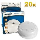 20x Nemaxx WL2 detectores de Humo inalámbricos - con DIN EN 14604
