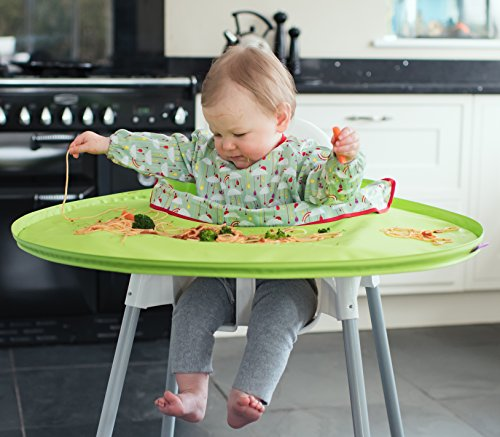 Tidy Tot All-in-One-Lätzchen-Tablett für Hochstuhl, wasserdicht, Baby-led Weaning, Esslernhilfe, Unisex Design (Tray Kit)