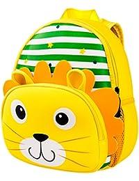 Bolsos escolares para niños,Mochila para niños Bolsos de escuela de niña niño pequeño Bolsos de libro de hombro de dibujos animados de jardín de infantes (2-6 años)