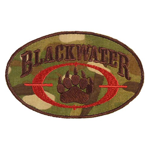 Multicam Blackwater Insignia Academi Embroidered Taktisch Tactical Combat Milspec Fastener Aufnäher Patch (Camo Bdu Uniform Woodland)