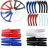 KidsHobby® Upgraded 4 Colors Syma X5SC X5SW Spare Parts Main Blade Propellers & Propeller Protectors Blades Frame & Landing Skid Included by Kidshobby