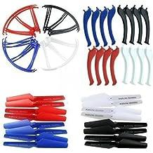KidsHobby® Acondicionadas 4 colores Syma X5SC X5SW de piezas de repuesto y la hoja principal Hélices hélice Protectores Cuchillas Marco y resbalón de aterrizaje incluidos