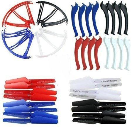 Syma-x5c-ersatzteile (KidsHobby® Upgraded 4 Farben Syma X5SC X5SW Ersatzteil-Hauptblatt-Propeller und Propeller Schützer Blades Frame & Landing Skid inklusive)