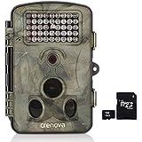 """Crenova 12MP 1080P HD Wildkamera mit 16GB SD-Karte 120° Breite Vision Infrarote 20m Nachtsicht 2.4"""" LCD Jagdkamera Jagdzeug Überwachungskamera."""