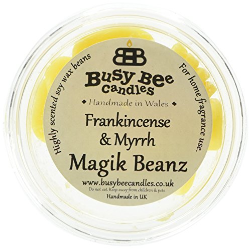 Scheda dettagliata Busy Bee Candle - Magik Beanz, fragranza di incenso e Mirra, Colore: Giallo, Set di 6