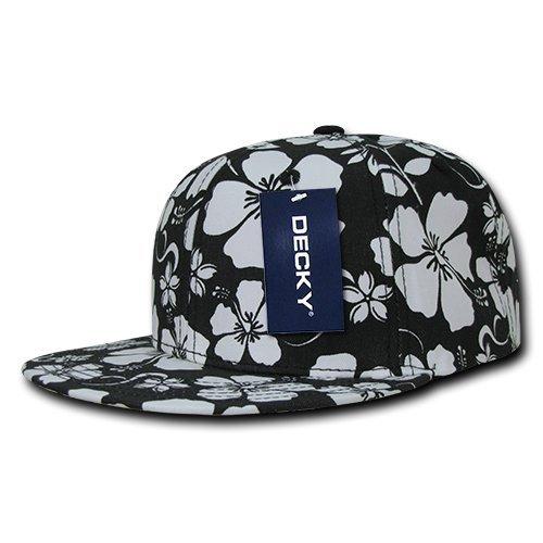 Decky Floral Snap Back Cap Black