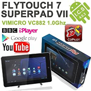 """10 inch 10.2"""" Tablet PC Flytouch Superpad 7 Latest Android 4.0.4 ICS Ice Cream Sandwich HDMI output 1GB DDR3 Allwinner CPU processor 1.2GHZ Massive 24 GB Built-in Memory GPS"""