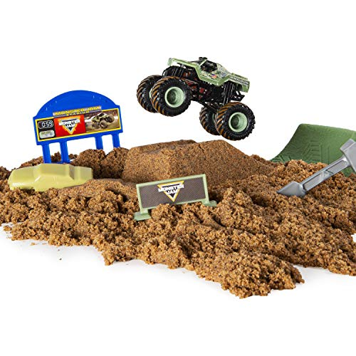 Monster Jam 6044986 Kinetic Dirt Deluxe Set, gemischte Farben - Jam Monster Kinder